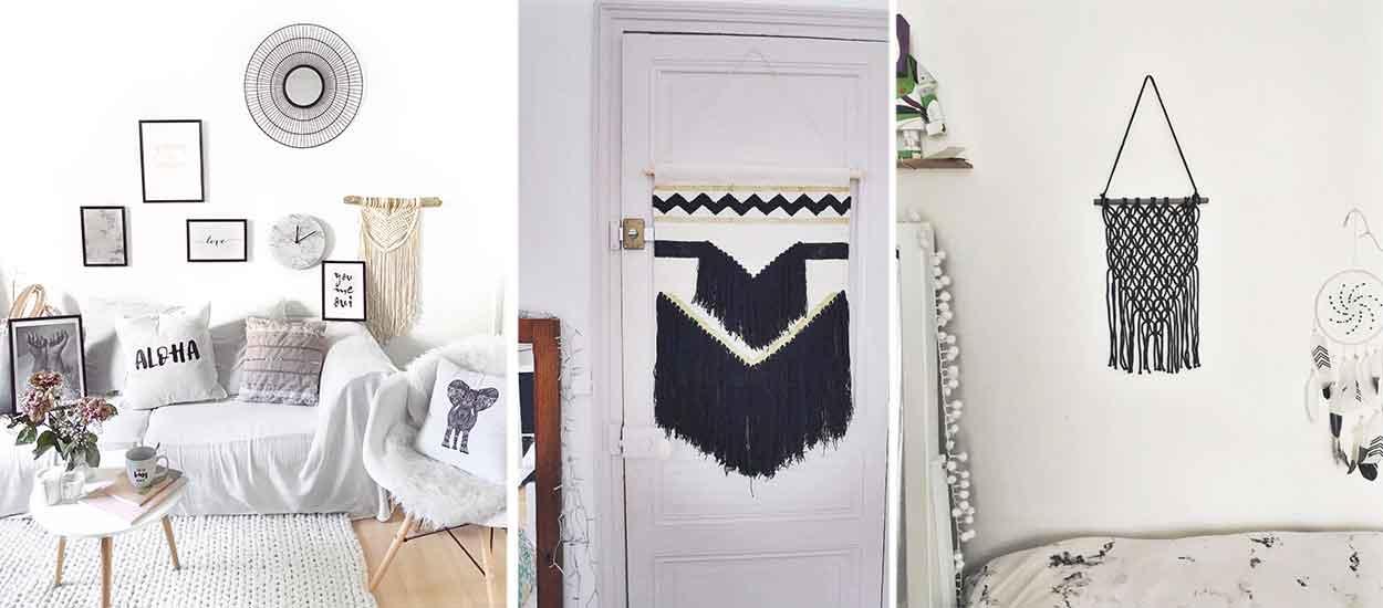 d coration mural opter pour le tissage mural. Black Bedroom Furniture Sets. Home Design Ideas