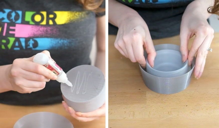 diy fabriquez un pot r serve d eau en b ton pour vos plantes d int rieur. Black Bedroom Furniture Sets. Home Design Ideas