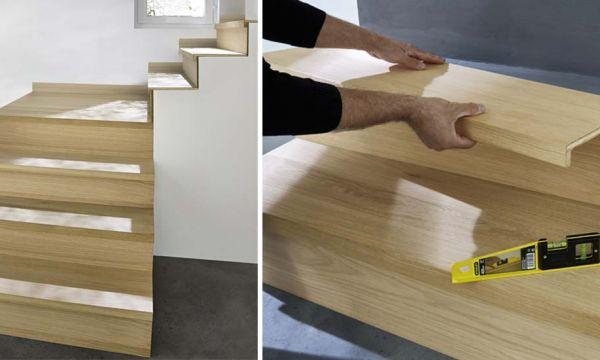 La solution facile pour rénover votre escalier : les marches prêtes à poser