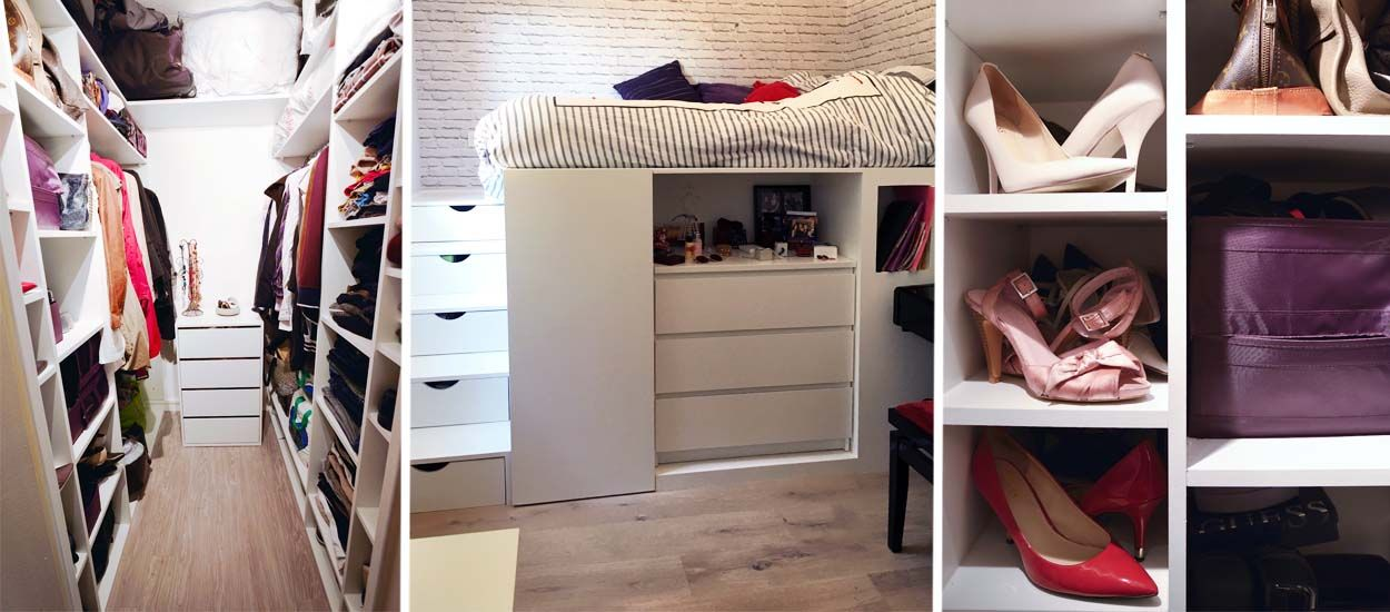 dressing gain de place 4 solutions d architectes pour optimiser l espace. Black Bedroom Furniture Sets. Home Design Ideas