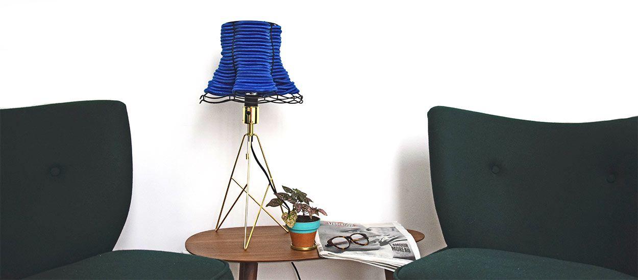 fabulous tuto customisez un vieil abatjour pour lui donner. Black Bedroom Furniture Sets. Home Design Ideas