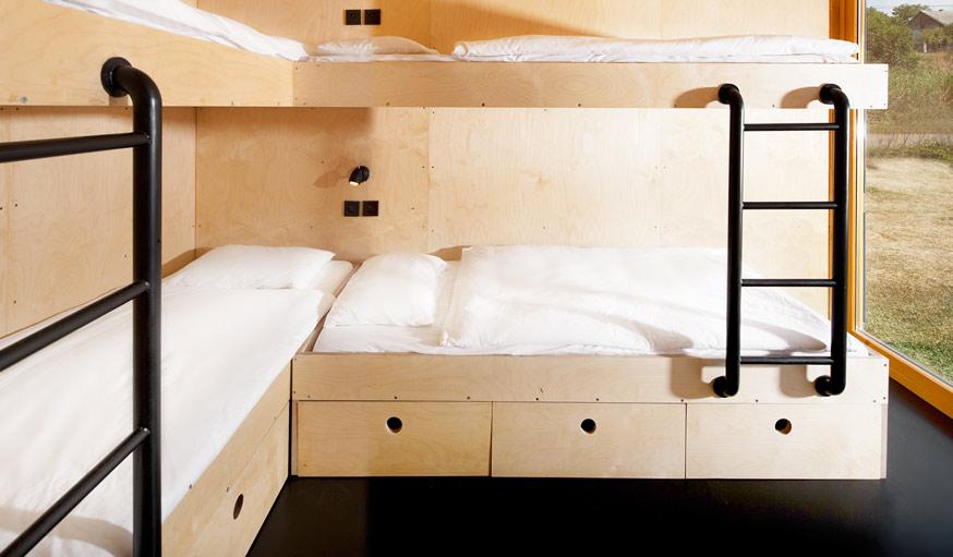 Une chambre de 4 lits