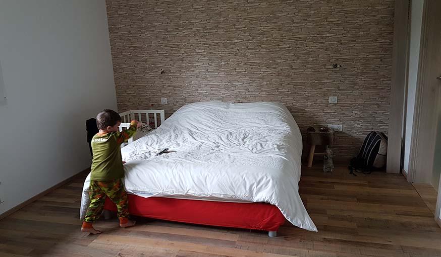 La chambre rénovée
