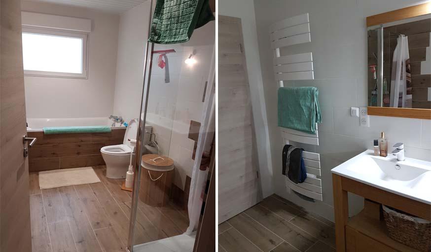 la salle de bains rnove - Photo Maison Renovee Avant Apres