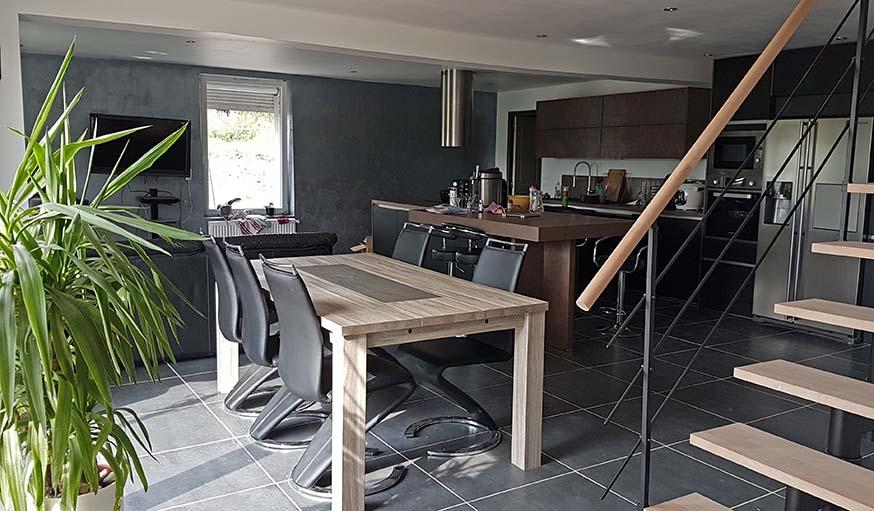 casser les murs salon agrandi grce luouvertue duun mur porteur dsc casser ouvrir ou abattre. Black Bedroom Furniture Sets. Home Design Ideas