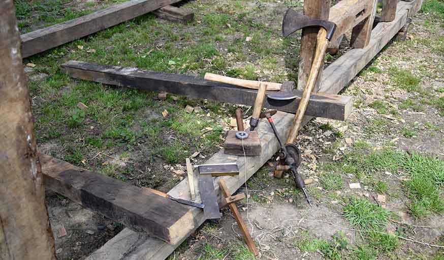 Quelques uns des outils amassés par Fabien Patoor.