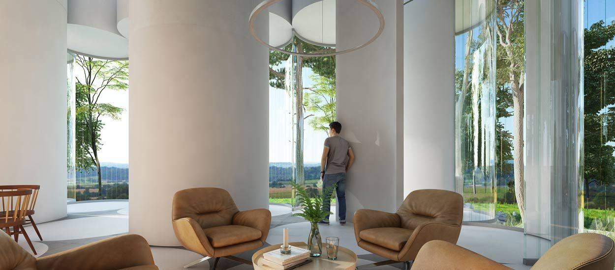 Cet architecte a imaginé une maison en cylindres de verre pour vivre au milieu des arbres