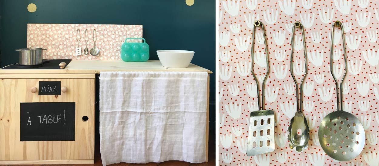 diy pour fabriquer une dinette diy de cuisine en bois jouet pour enfant. Black Bedroom Furniture Sets. Home Design Ideas