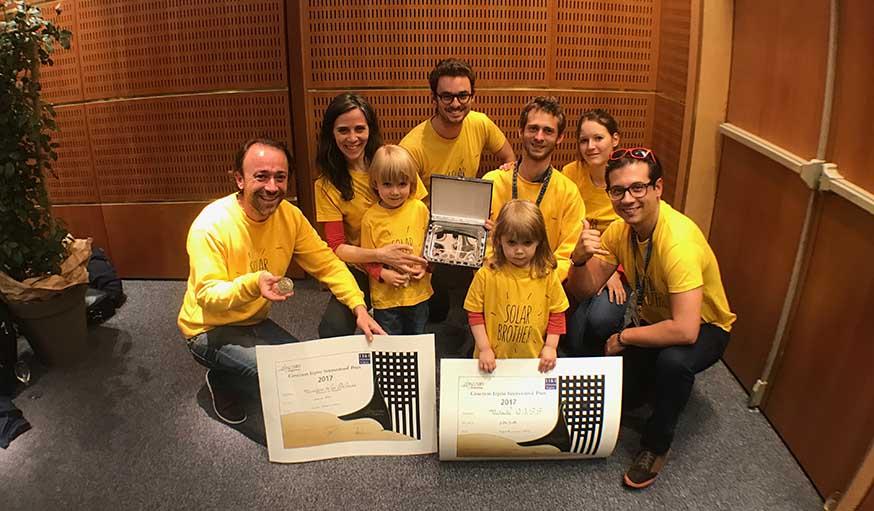 L'équipe de Solar Brother au concours Lépine 2017.