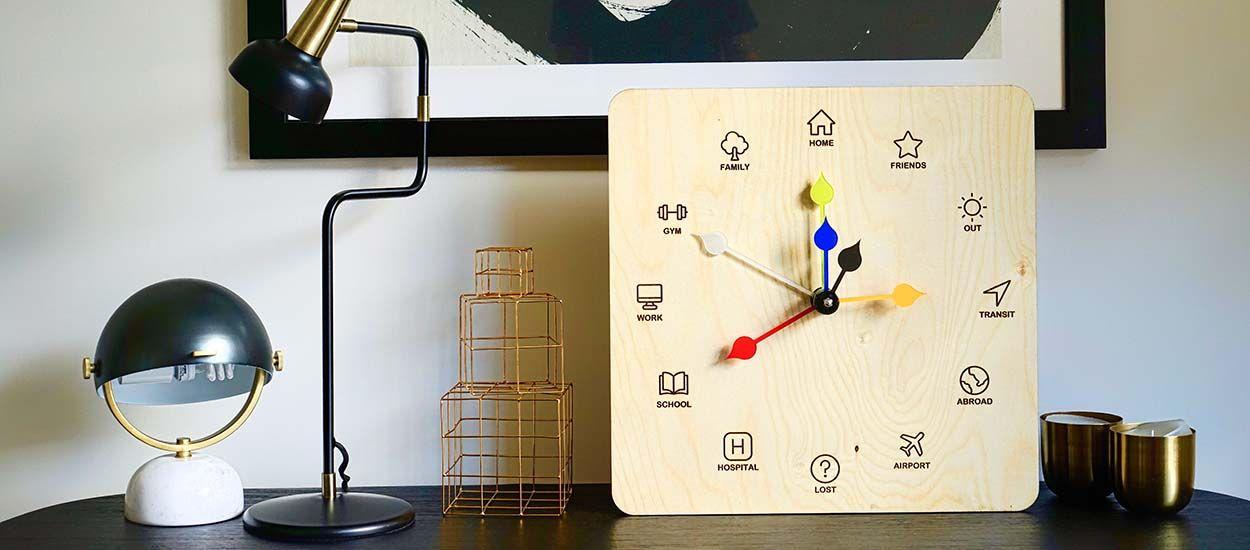 Découvrez Eta clock, l'horloge inspirée de la pendule des Weasley dans Harry Potter