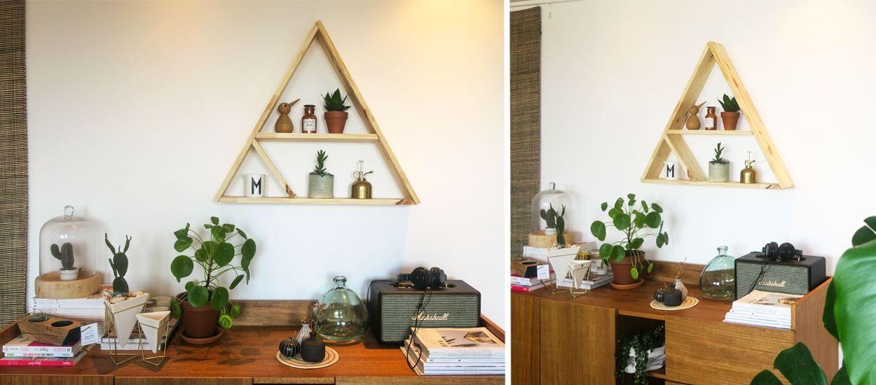 Tuto : Fabriquez une étagère triangle design pour 15 euros