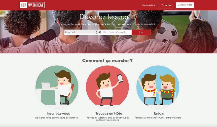Capture d'écran du site Watch Eat