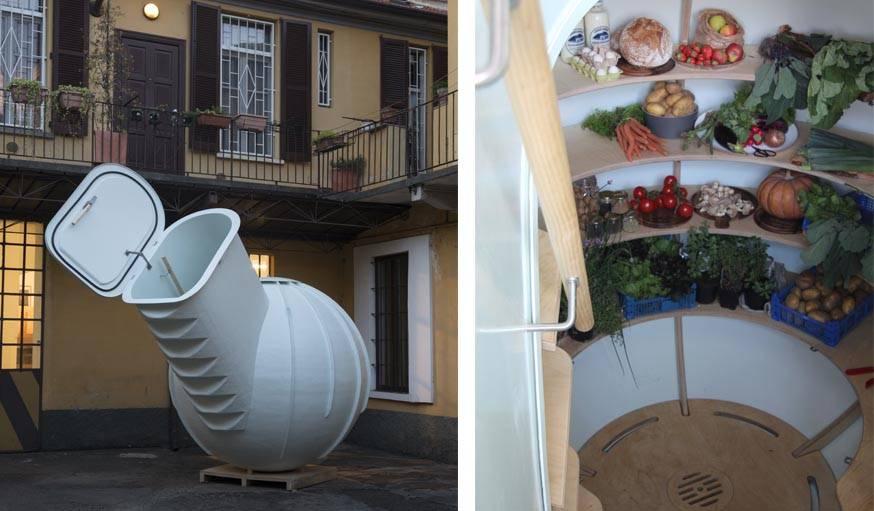 un frigo sous terrain enterr dans le jardin un frigo sans lectricit. Black Bedroom Furniture Sets. Home Design Ideas