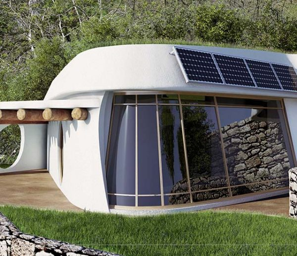 Ces jolies petites maisons écolo sont des Earthships modernes qui luttent contre la crise des déchets