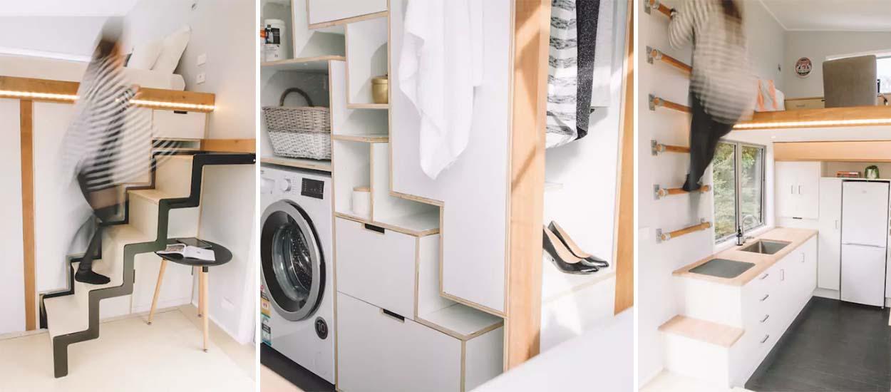astuces de rangement pour petit espace 7 id es copier sur la millennial tiny house. Black Bedroom Furniture Sets. Home Design Ideas