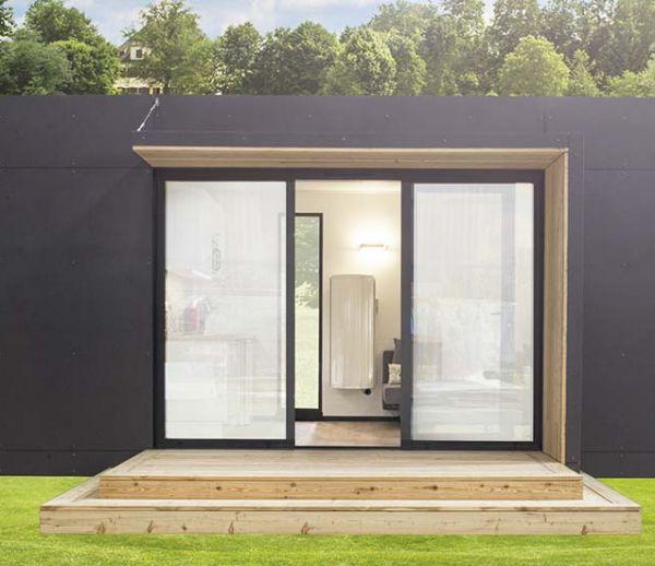 Module Nova : une pièce en plus dans le jardin, made in France et sans permis de construire !