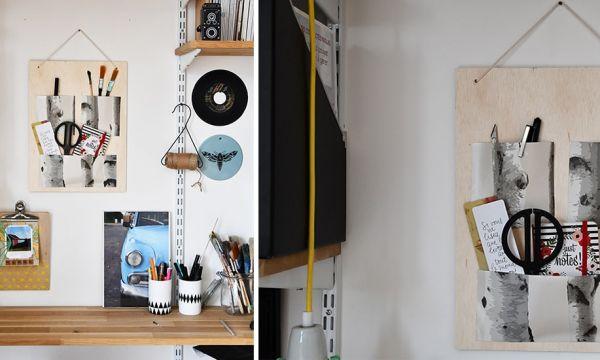 Tuto : fabriquez un organiseur de bureau au look d'automne pour une poignée d'euros !