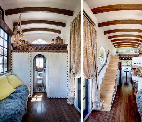 Découvrez cette charmante tiny house aux allures gitanes, option four à pizza !