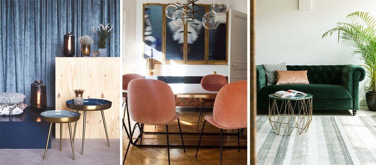 le velours revient dans la tendance d co automne hiver 2017. Black Bedroom Furniture Sets. Home Design Ideas