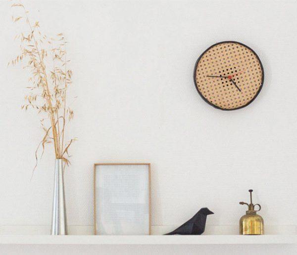 Tuto : Fabriquez une horloge au look rétro avec le cannage de votre grand-mère