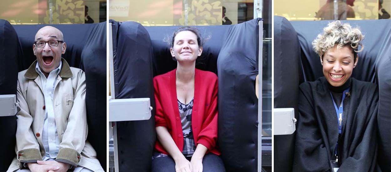 Découvrez Huggie Douggie, le fauteuil qui fait des câlins et procure du bien-être