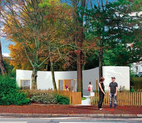 La première maison imprimée en 3D en France a été construite ce week-end à Nantes