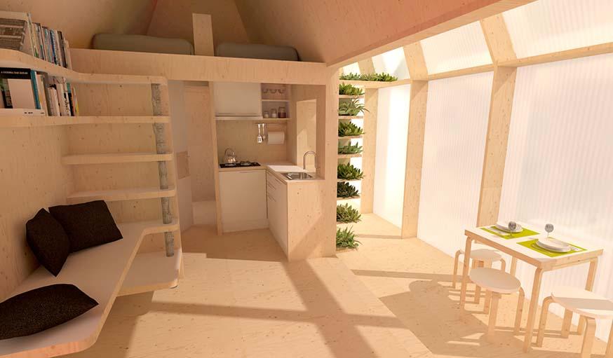 Voici ce à quoi pourra ressembler l'intérieur de la tiny house.