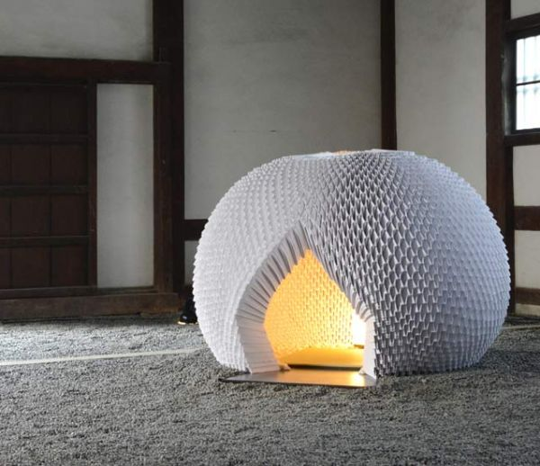 Ce designer japonais a conçu une incroyable maison de thé en origami