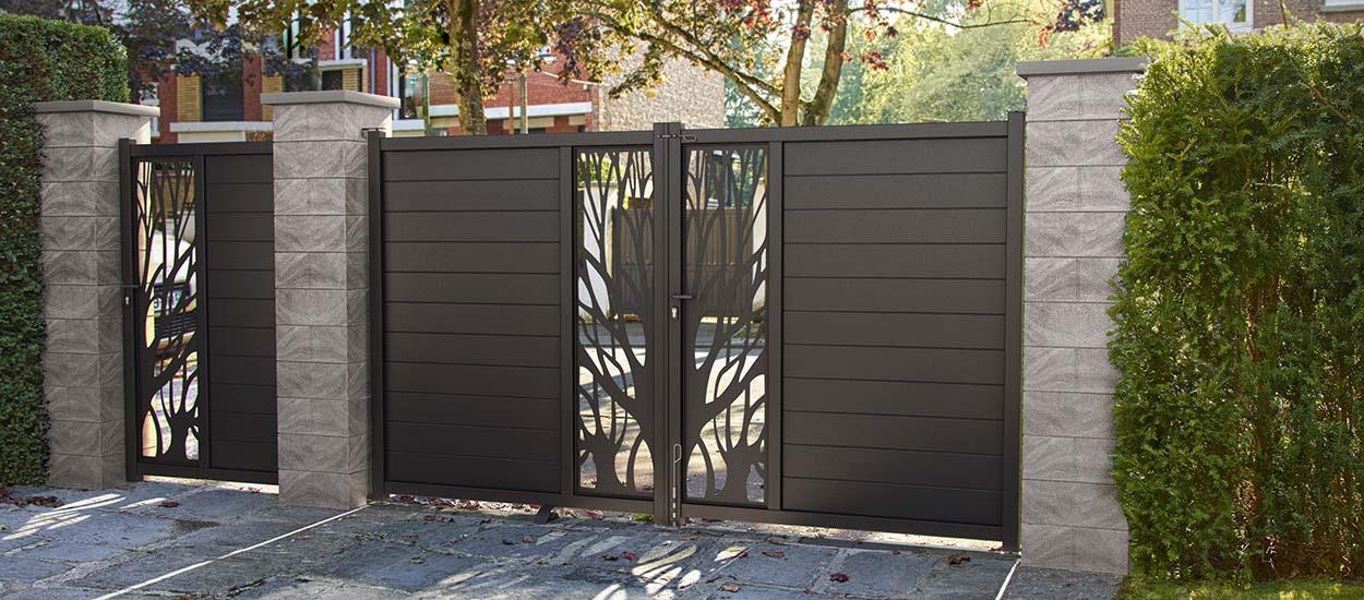 portail coulissant battant motoris comment bien choisir un portail. Black Bedroom Furniture Sets. Home Design Ideas