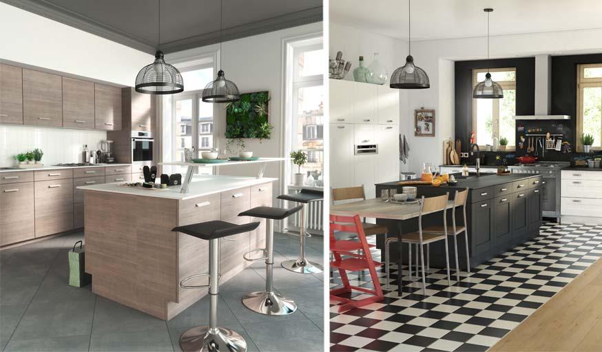 am nager une grande cuisine notre s lection de meubles de cuisine castorama. Black Bedroom Furniture Sets. Home Design Ideas