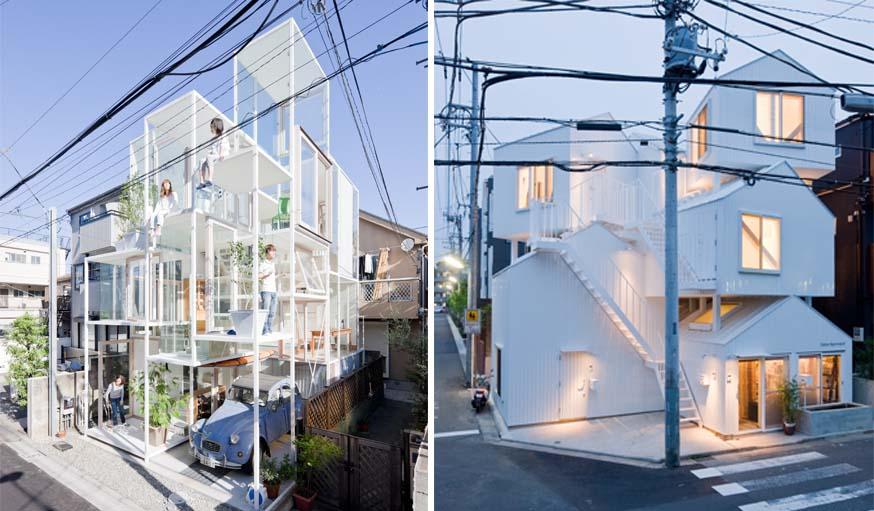 Sou Fujimoto - House NA (2011) / Sou Fujimoto - Tokyo Apartment (2012).