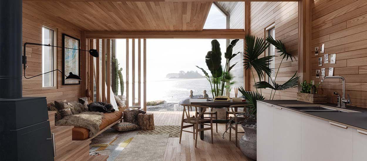surf shack la petite maison chic construire soi m me. Black Bedroom Furniture Sets. Home Design Ideas