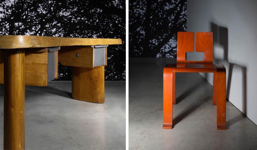Ventes aux ench res charlotte perriand 20 meubles de la designer fran aise - Bureau charlotte perriand ...