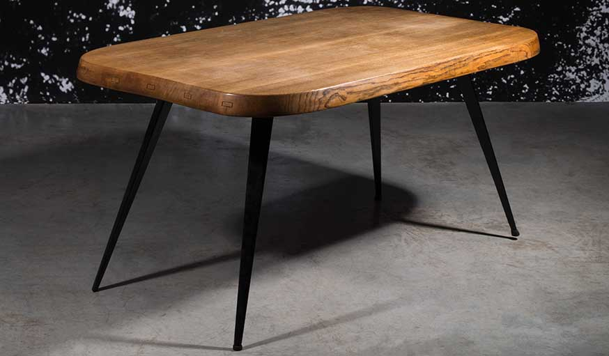 Charlotte Perriand, Table 6 couverts, 1958 - Edition Steph Simon, plateau André Chetaille