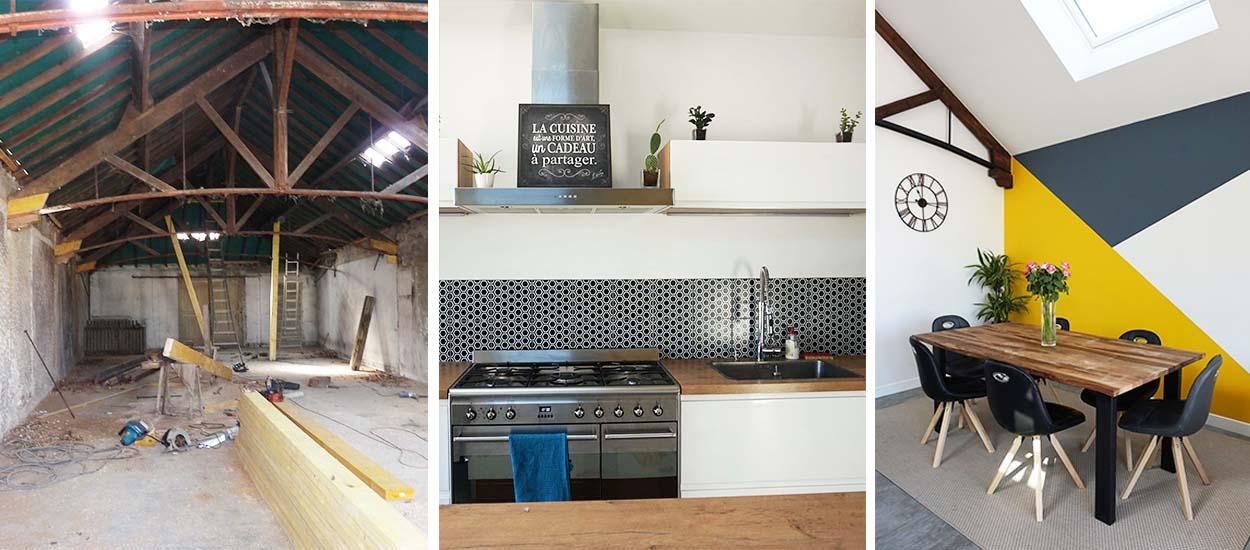 un ancien entrep t transform en loft avant apr s loft style industriel. Black Bedroom Furniture Sets. Home Design Ideas