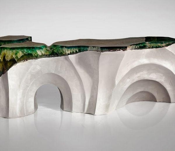 Des meubles design inspirés des falaises d'Étretat et des plages des Maldives