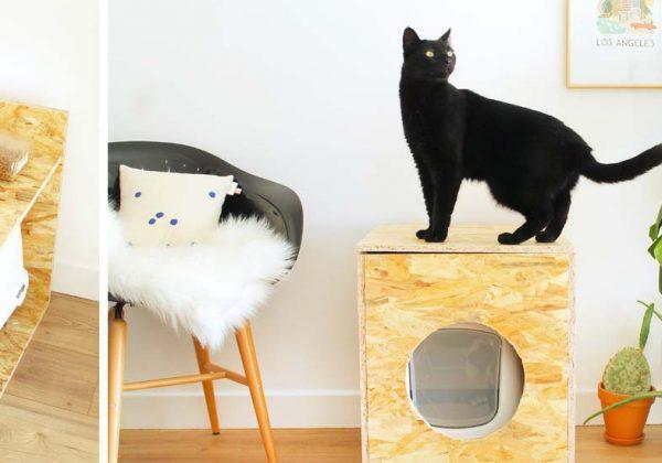 jolie de une pour fabriquer maison chat DIY toilette pour IfbY7g6yv