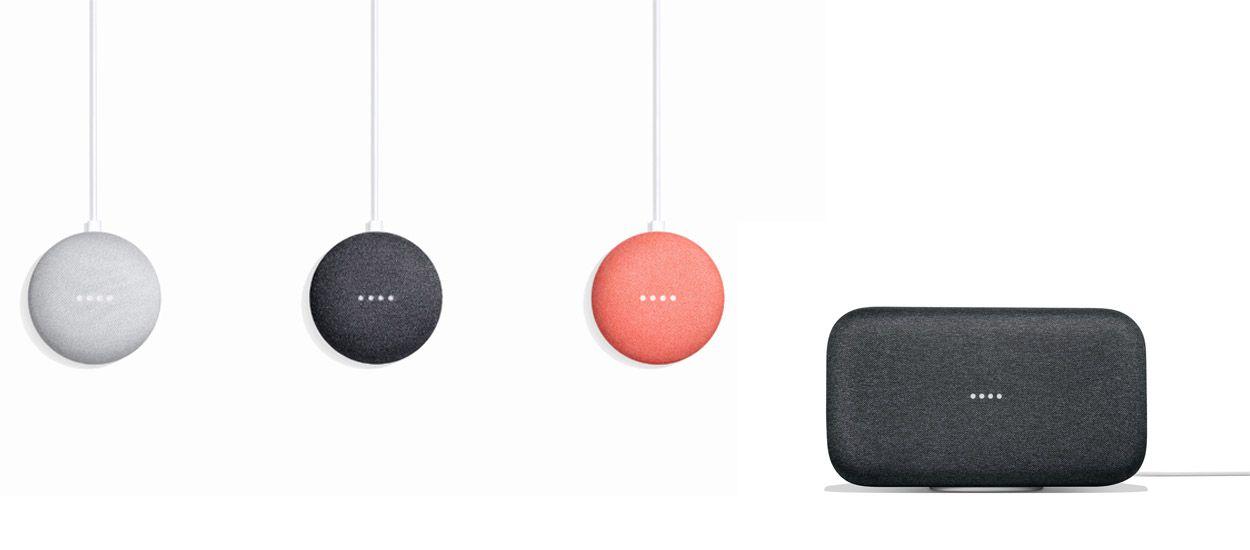 Google Home Mini et Google Home Max, les deux petits nouveaux de la famille Google Home