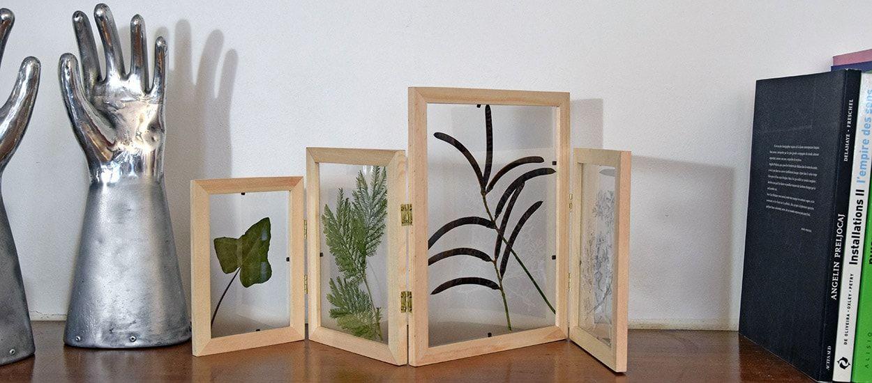 Tuto déco : avec 4 cadres, fabriquez vous même votre herbier tendance !