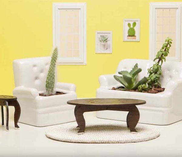 Des mini-meubles pour succulentes et cactus, une idée craquante !