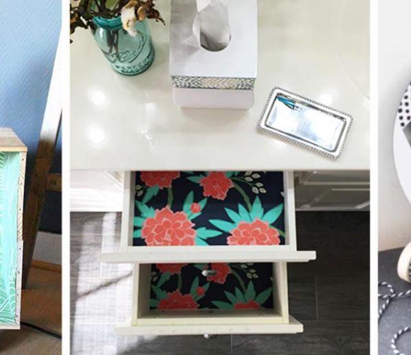 15 tutos faciles à faire avec des chutes de papier peint
