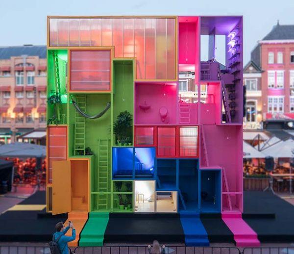 Et si, dans le futur, on habitait dans des immeubles tout droit sortis du jeu Tetris ?