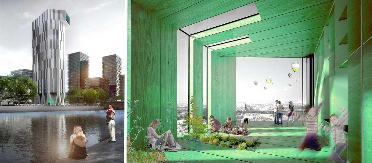 La première tour de logements à énergie positive au monde va voir le jour à Strasbourg