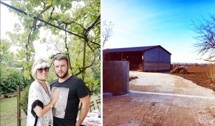 Coraly et Morgan vont bientôt emménager dans cette grange entièrement rénovée.