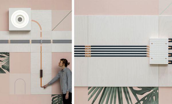 Ce papier peint peut faire tourner un ventilateur !