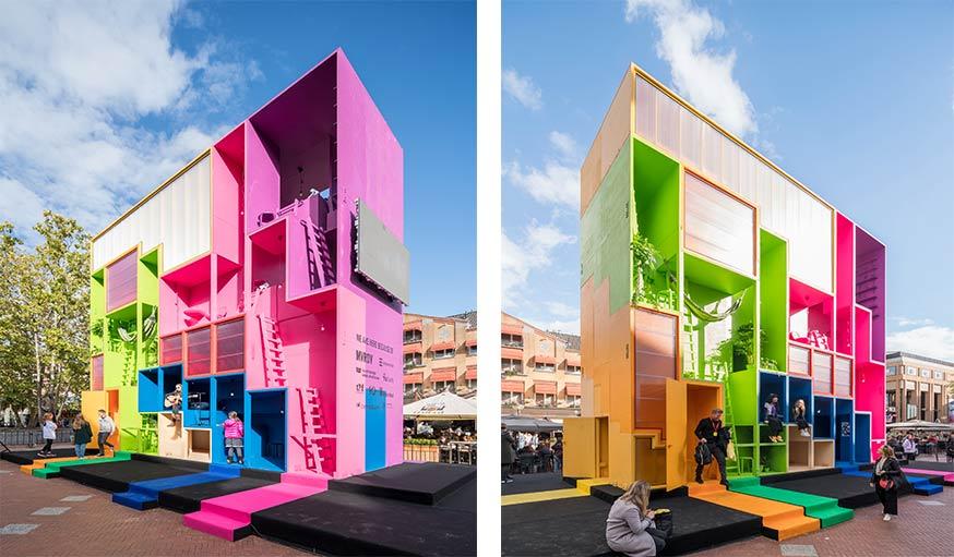 cet immeuble tout droit sorti du jeu tetris est peut tre l 39 habitat du futur. Black Bedroom Furniture Sets. Home Design Ideas