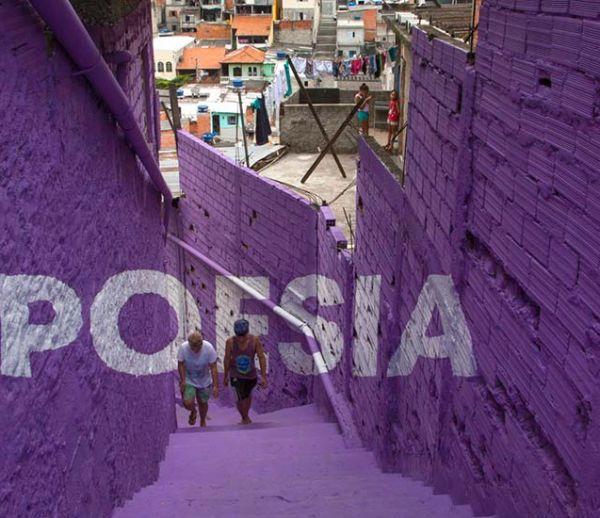 De la poésie et de la magie pour égayer les murs des favelas