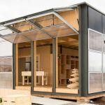 Neighborhub, la maison solaire construite par l'équipe suisse au Solar Decathlon 2017.