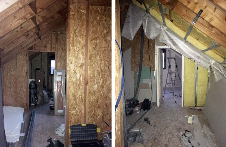 avant apr s cette grange a t r nov e avec une sur l vation en bois. Black Bedroom Furniture Sets. Home Design Ideas