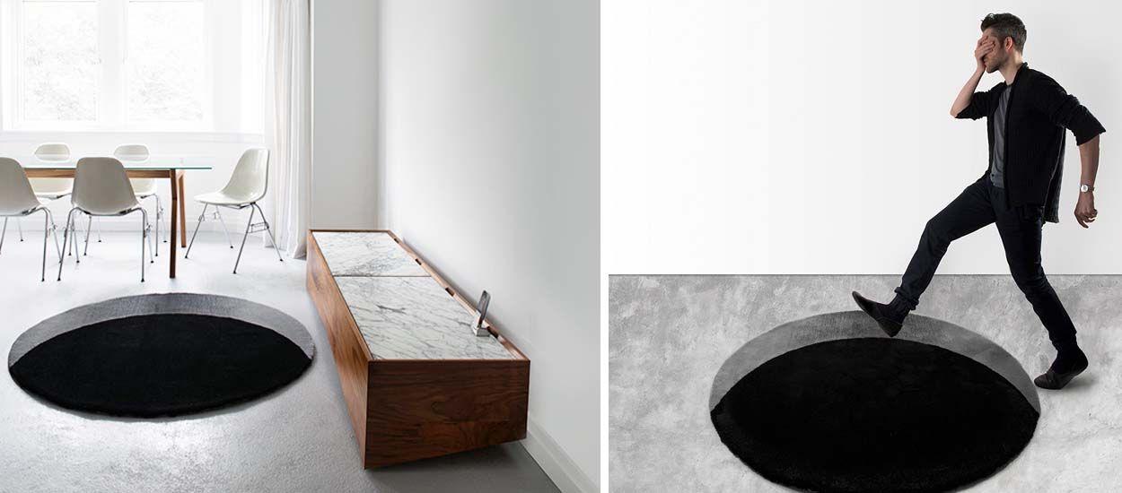 Avec ce tapis de designer, l'illusion d'optique est parfaite !